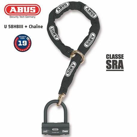 ANTIVOL U + CHAINE ABUS 58HB3+12KS120L
