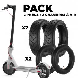 Pack 2 pneus + 2 chambres à air pour XIAOMI M365