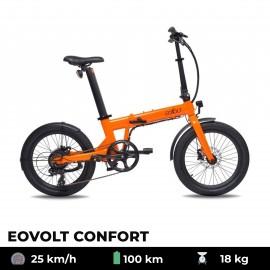 Vélo électrique EOVOLT Confort orange 20 pouces