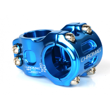 POTENCES HIFI V2 40mm bleu diam.31.8mm clamp freeride/dh stem