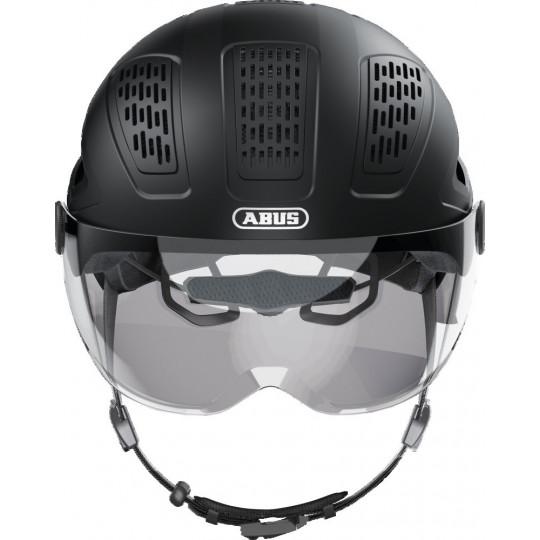 Casque Abus hyban 2.0 ACE Noir avec visière + led arrière