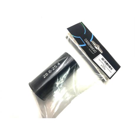 Adaptateur de potence aluminium – Noir – 25.4mm à 28.6mm - Carbonrevo
