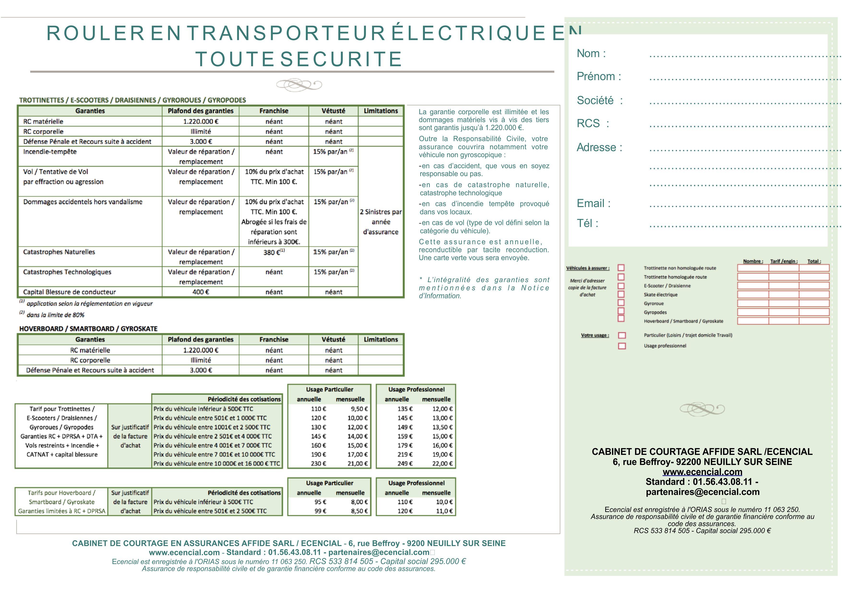 Affide assurance trottinette electrique